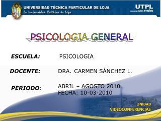 ESCUELA: PSICOLOGIA