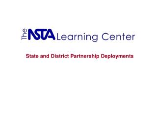 State and District Partnership Deployments