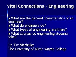 Vital Connections - Engineering