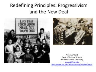 Redefining Principles: Progressivism and the New Deal