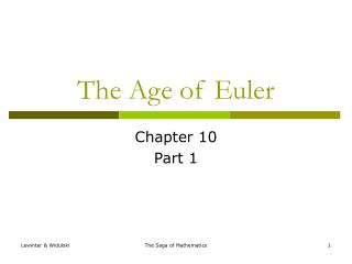 The Age of Euler