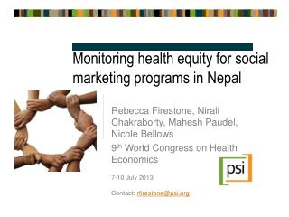 Monitoring health equity for social marketing programs in Nepal