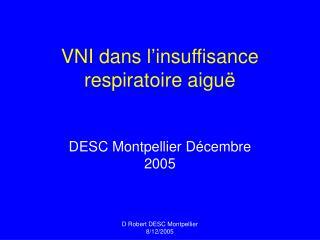 VNI dans l'insuffisance respiratoire aiguë