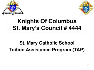 Knights Of Columbus St. Mary s Council  4444