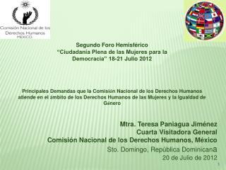 Mtra. Teresa Paniagua Jiménez Cuarta Visitadora General