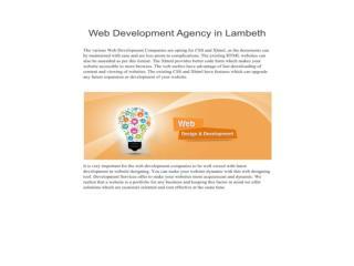 Web Development Agency in Lambeth