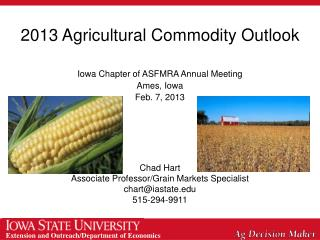 2013 Agricultural Commodity Outlook