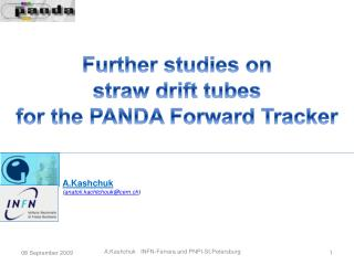 Further studies on  straw drift tubes for the PANDA Forward Tracker