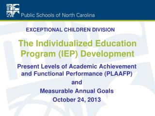 The Individualized Education Program (IEP) Development