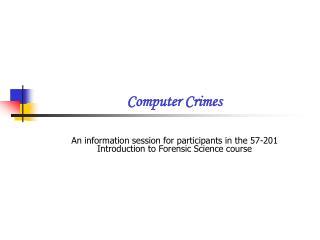 Computer Crimes