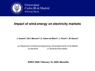 Impact of wind energy on electricity markets