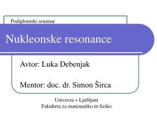 Nukleonske resonance