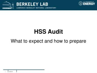 HSS Audit What to expect and how to prepare