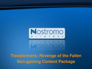 Transformers: Revenge of the Fallen Non-gaming Content Package