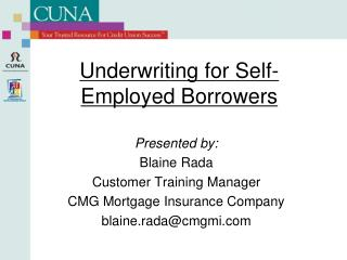Underwriting for Self-Employed Borrowers