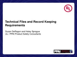 Technical Files and Record Keeping Requirements