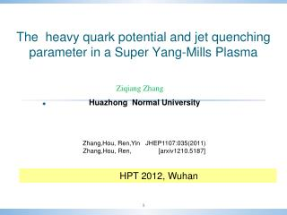 The  heavy quark potential and jet quenching parameter in a Super Yang-Mills Plasma
