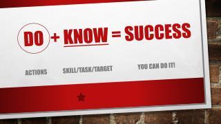 Do  +  know  = success