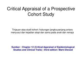Critical Appraisal of a Prospective Cohort Study