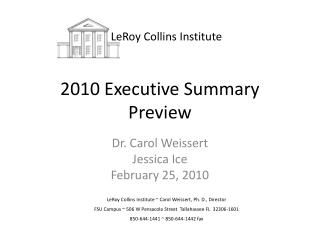 2010 Executive Summary Preview