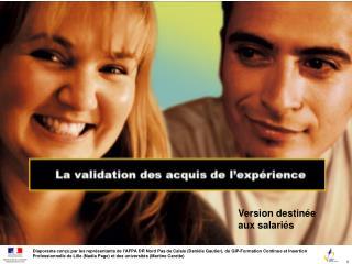 Diaporama con u par les repr sentants de lAFPA DR Nord Pas de Calais Dani le Gautier, du GIP-Formation Continue et Inser