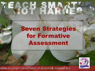 Seven Strategies for Formative Assessment