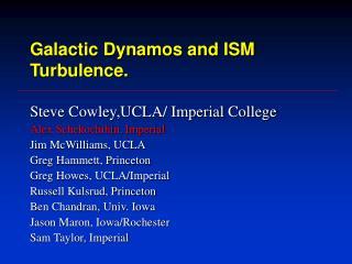 Galactic Dynamos and ISM Turbulence.