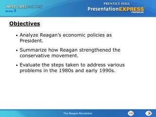 Analyze Reagan's economic policies as President.