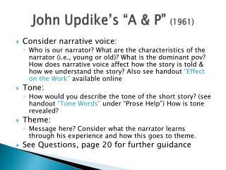 "John Updike's ""A & P""  (1961)"