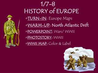 1/7-8	  HISTORY of EUROPE