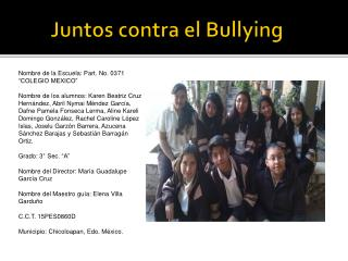 Juntos contra el  Bullying