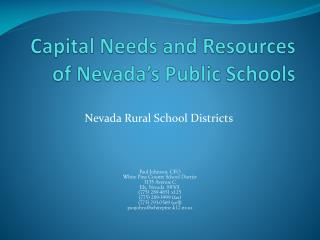 Capital Needs and Resources of Nevada's Public Schools