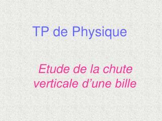 TP de Physique