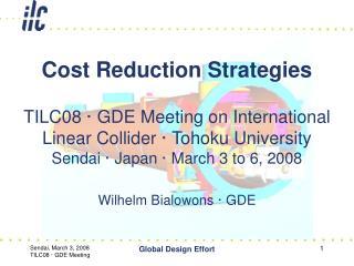 TILC08 · GDE Meeting on International Linear Collider · Tohoku University