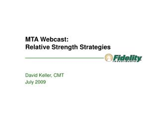 MTA Webcast: Relative Strength Strategies