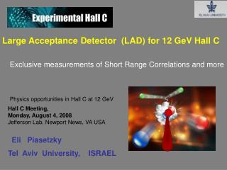 Large Acceptance Detector  (LAD) for 12 GeV Hall C