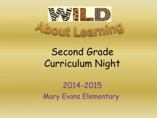 Second Grade Curriculum Night 2014-2015
