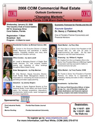 2008 CCIM Commercial Real Estate Outlook Conference