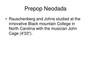Prepop Neodada