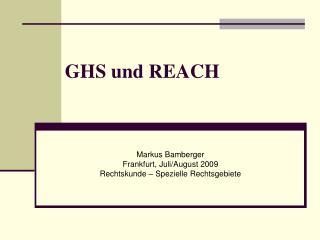 GHS und REACH