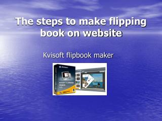 How to make flipping book on website
