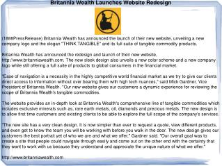Britannia Wealth Launches Website Redesign