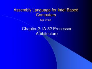 Assembly Language for Intel-Based Computers