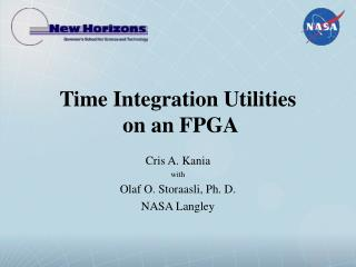Time Integration Utilities  on an FPGA