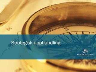 Strategisk upphandling