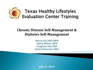 Texas Healthy Lifestyles Evaluation Center Training