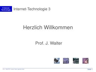 Internet-Technologie 3