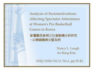 Nancy L. Lough Ae-Rang Kim