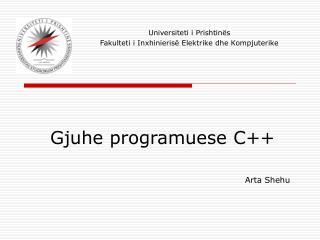 Gjuhe programuese C++