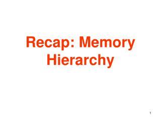 Recap: Memory Hierarchy